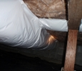 Professionally installed crawl space insulation