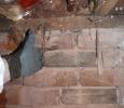 Brick foundation and chimney base